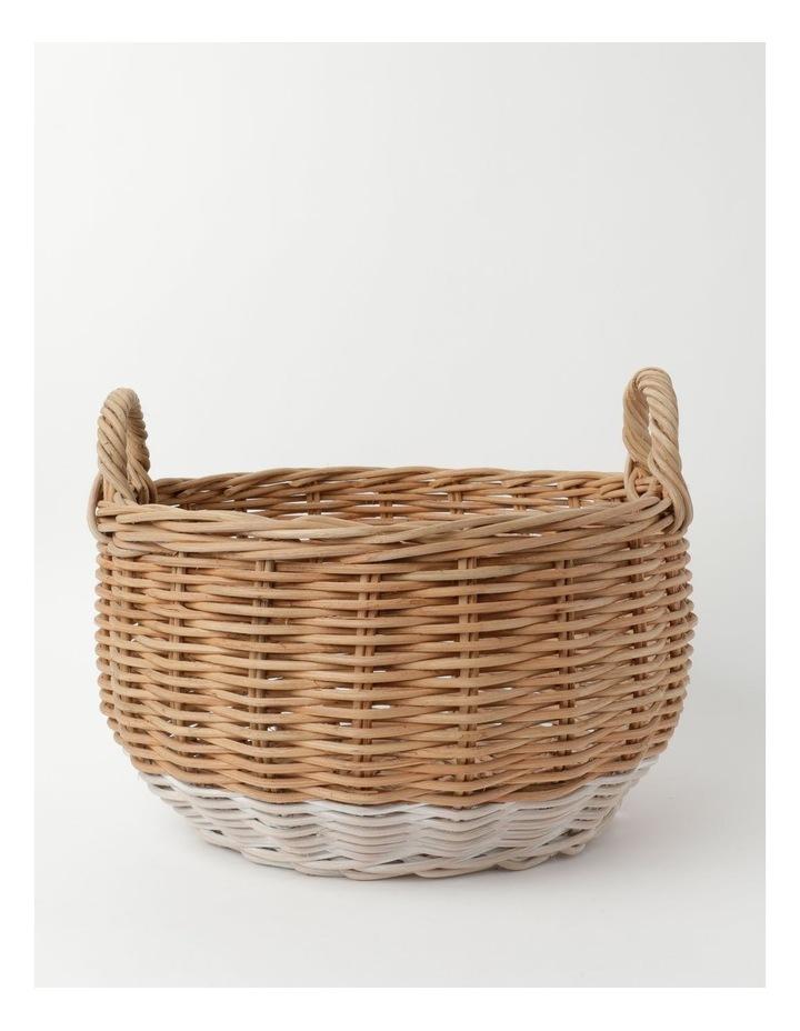 Milkshake White Dipped Rattan Basket image 1
