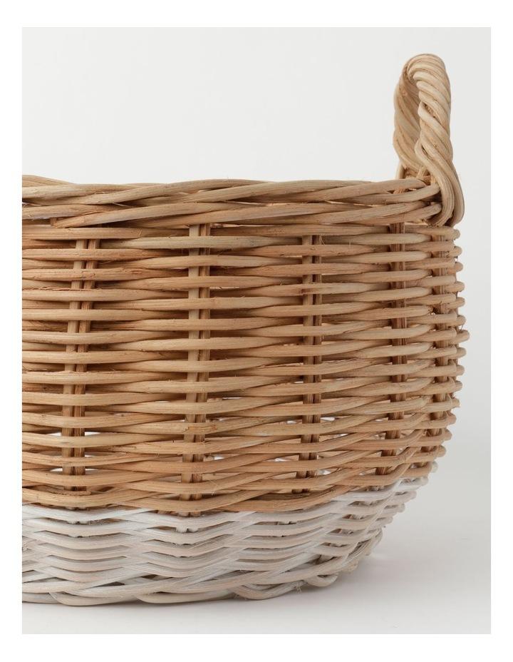 Milkshake White Dipped Rattan Basket image 3
