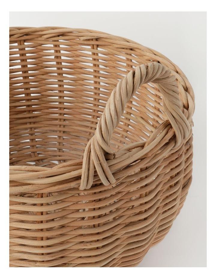 Milkshake White Dipped Rattan Basket image 5