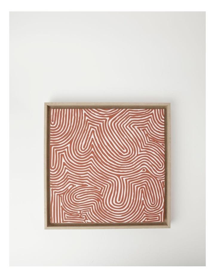 Walter Jangala Brown - Tingari Cycle Wall Art 40x40cm image 1