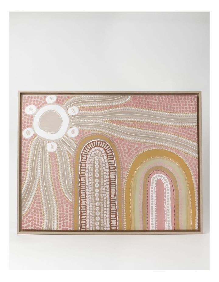 Mountain Star Wall Art 85x65cm In Quartz Pink image 1