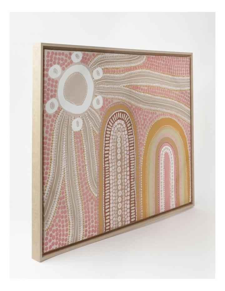 Mountain Star Wall Art 85x65cm In Quartz Pink image 2