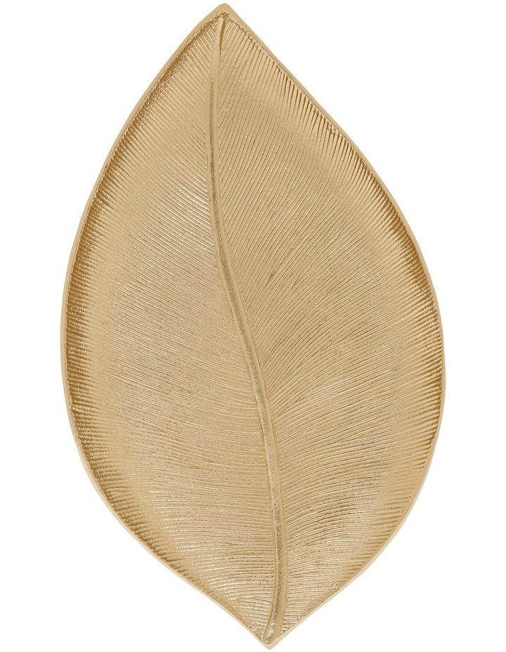 Gold Decorative Leaf Platter 32cm image 1