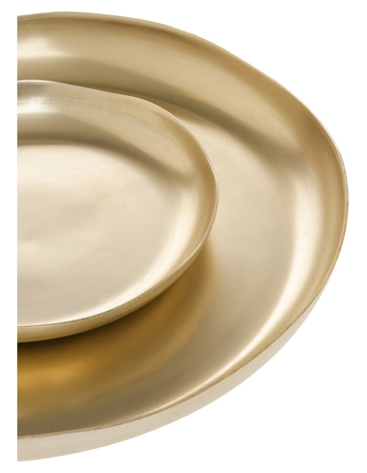 Mineral Champagne Tone Decorative Plates Set of 2 image 2