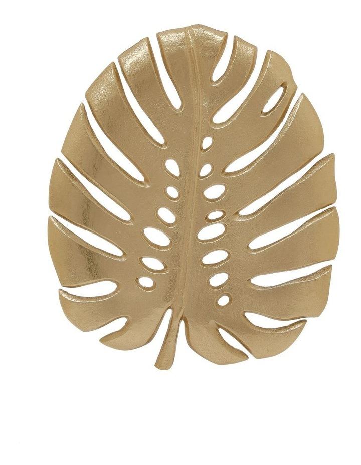 Decorative Monsteria Leaf Platter Gold 26.5x31.5cm image 2