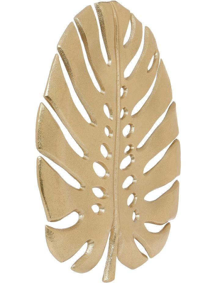 Decorative Monsteria Leaf Platter Gold 26.5x31.5cm image 3