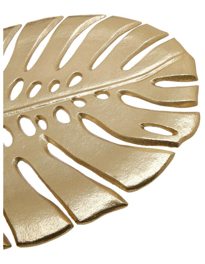 Decorative Monsteria Leaf Platter Gold 26.5x31.5cm image 5