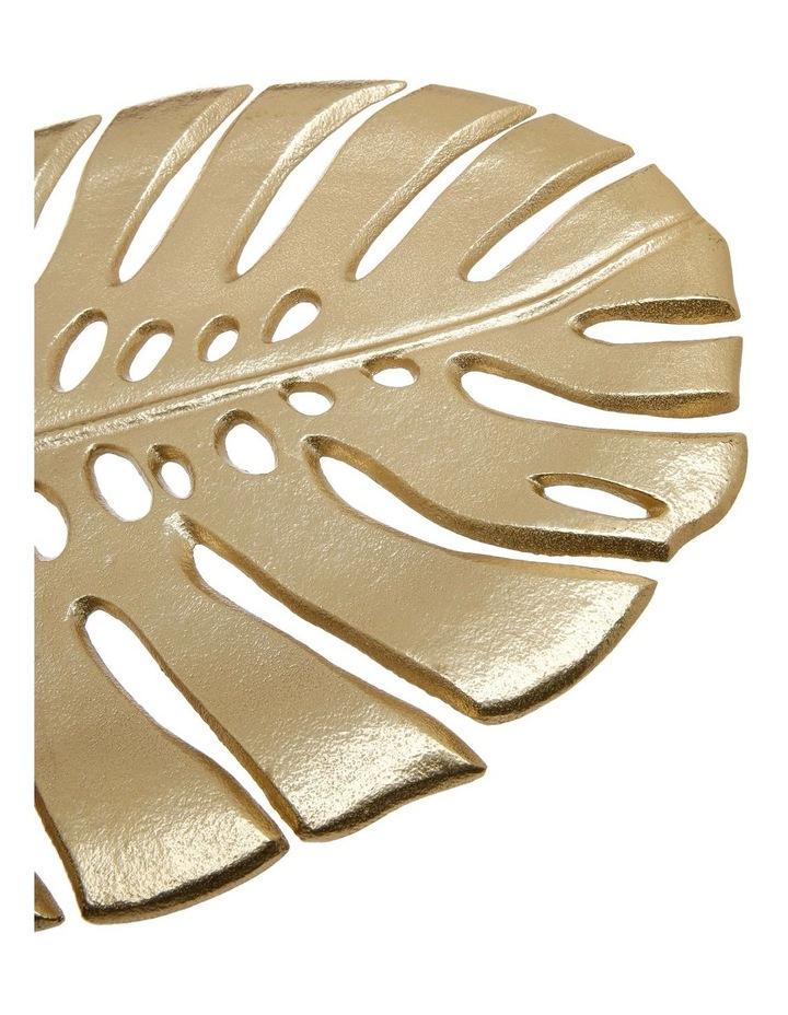 Decorative Monsteria Leaf Platter Gold 26.5x31.5cm image 6