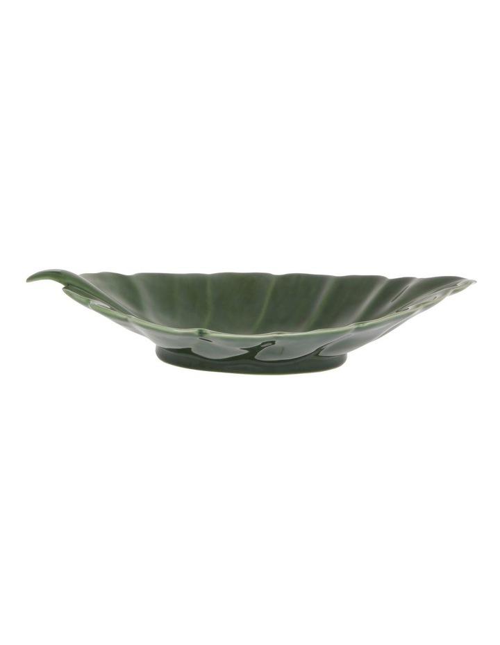 Ceramic Leaf Tray Green 41cm image 1