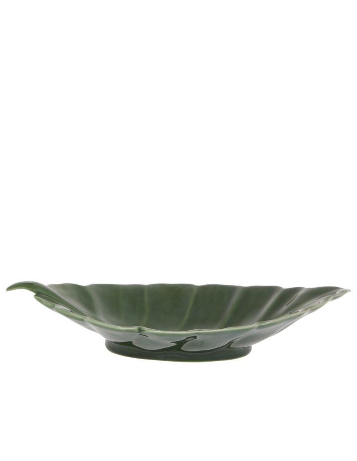 Ceramic Leaf Tray Green 41cm image 2