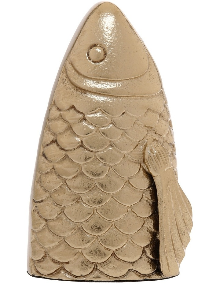 Large Carp Fish in Burnished Gold Finish image 1