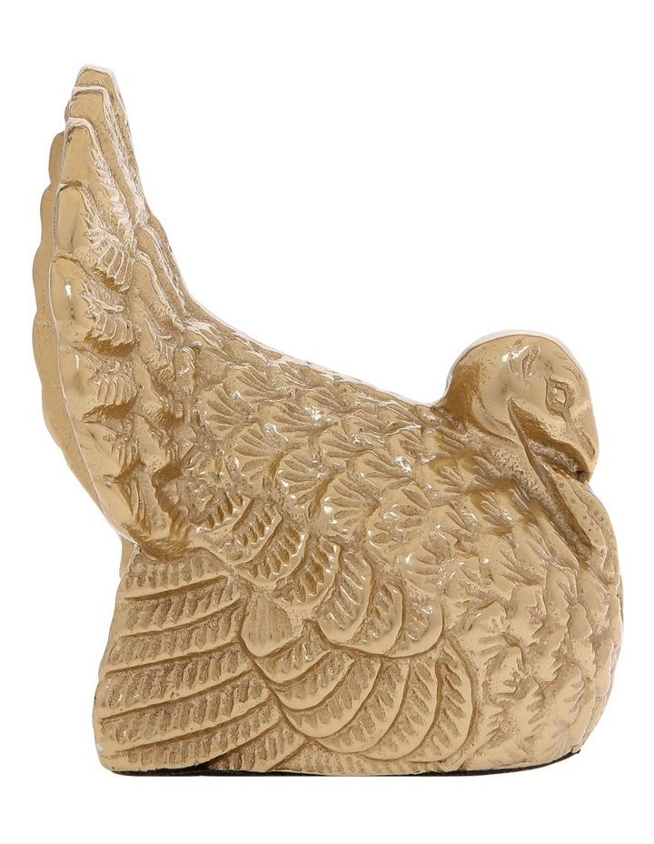 Moulded Turkey in Burnished Gold Finish image 1