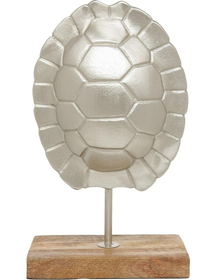 Silver Tone Tortoise Shell Sculpture 26.5cm image 1