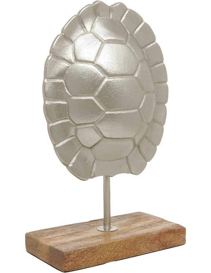 Silver Tone Tortoise Shell Sculpture 26.5cm image 2