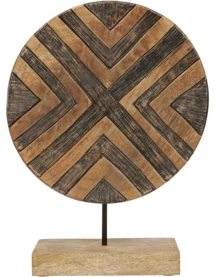 Carved Pattern Circle On Plinth image 1