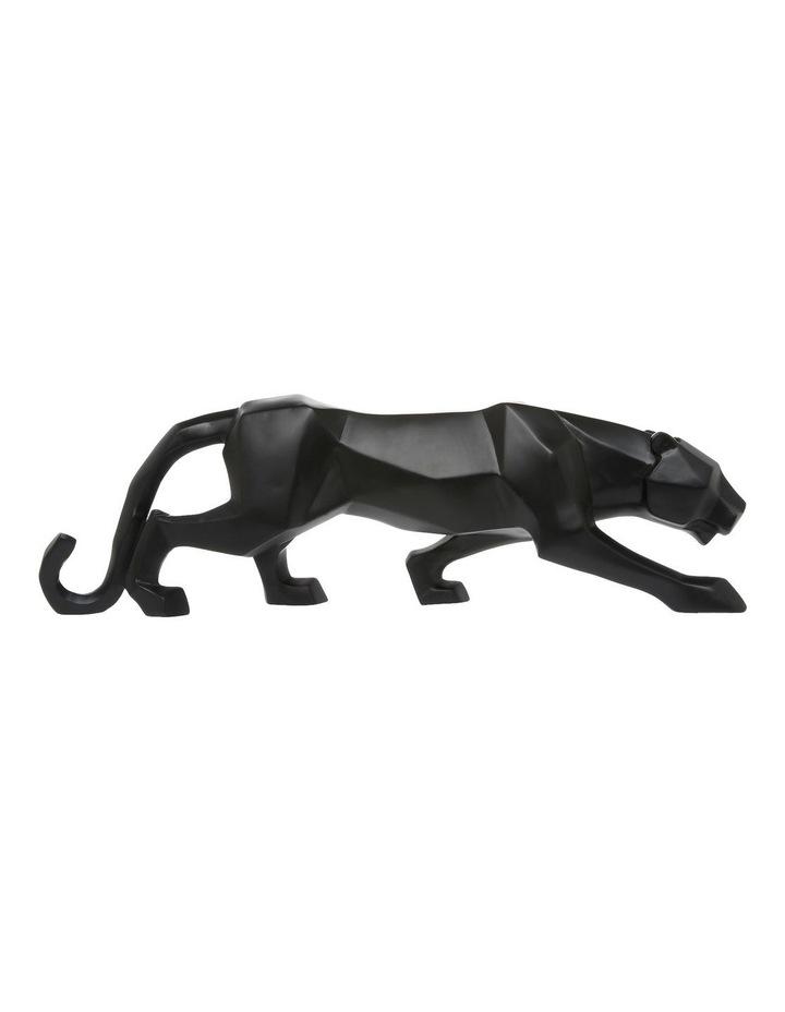 Black Matte Faceted Panther image 1