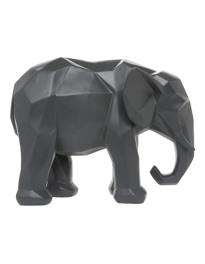 Faceted Decorative Elephant Grey image 1