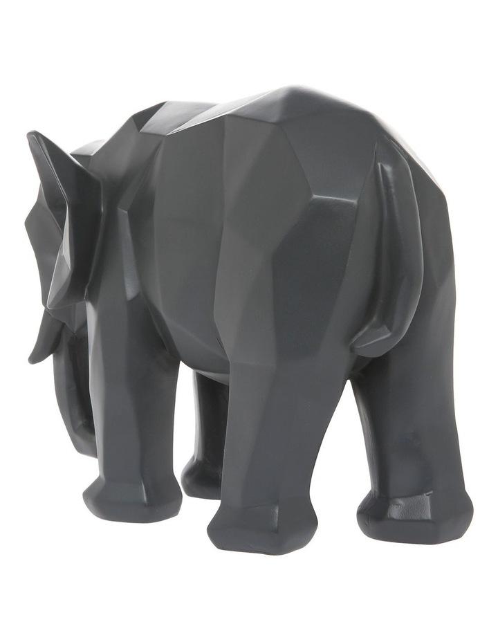 Faceted Decorative Elephant Grey image 2
