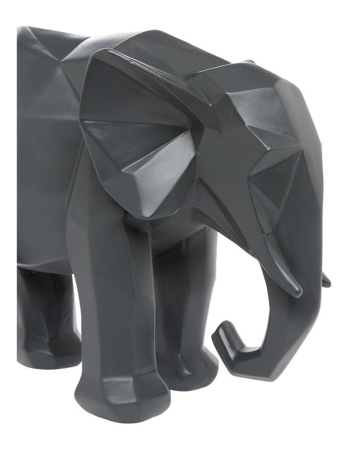 Faceted Decorative Elephant Grey image 3