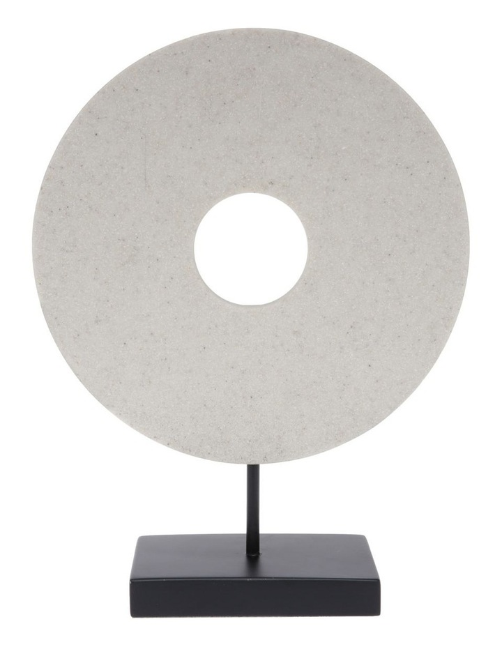 Resin Circular Sculpture with Black Base 34cm image 1