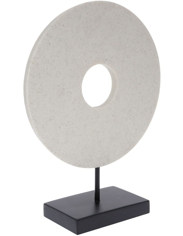 Resin Circular Sculpture with Black Base 34cm image 2
