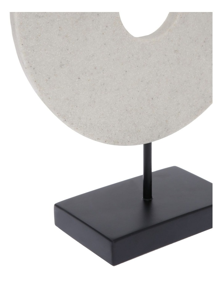 Resin Circular Sculpture with Black Base 34cm image 3