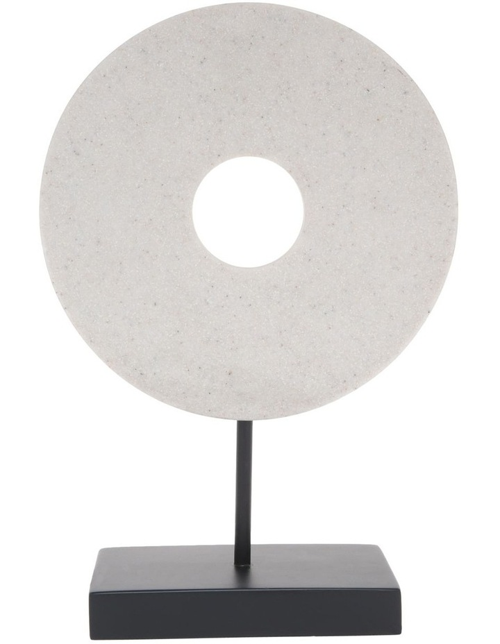 Resin Circular Sculpture Black Base 30cm image 1