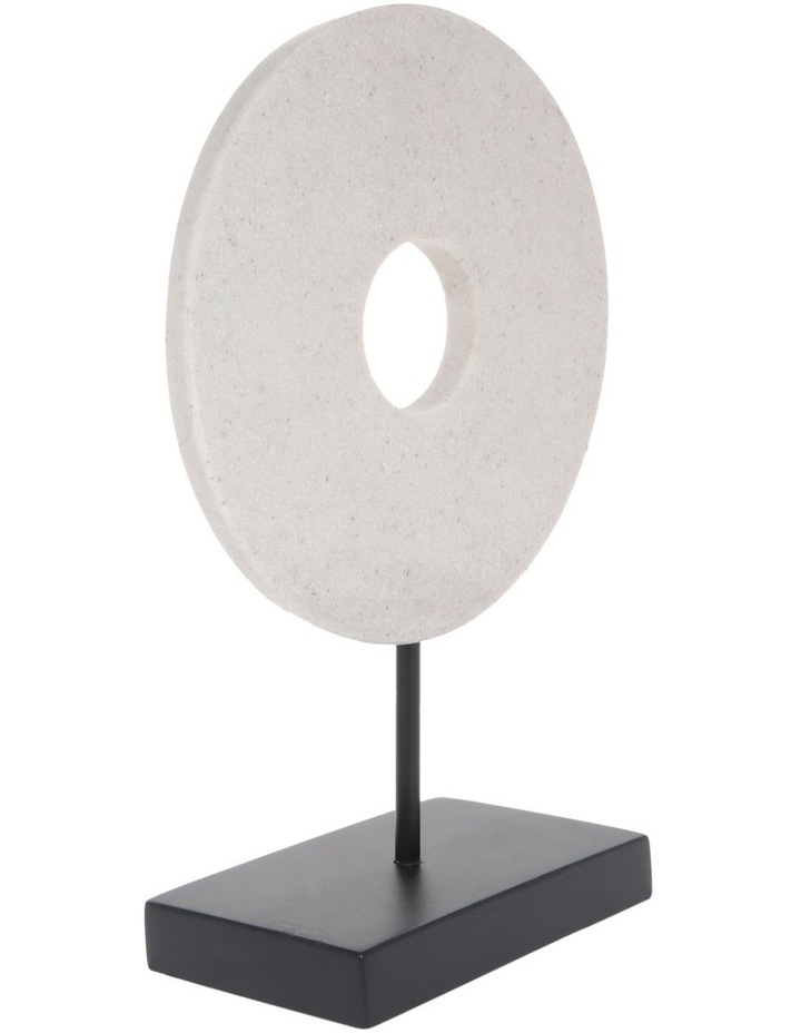 Resin Circular Sculpture Black Base 30cm image 2