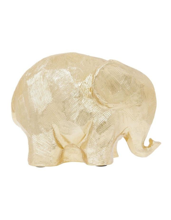 Gold Elephant Figurine image 1