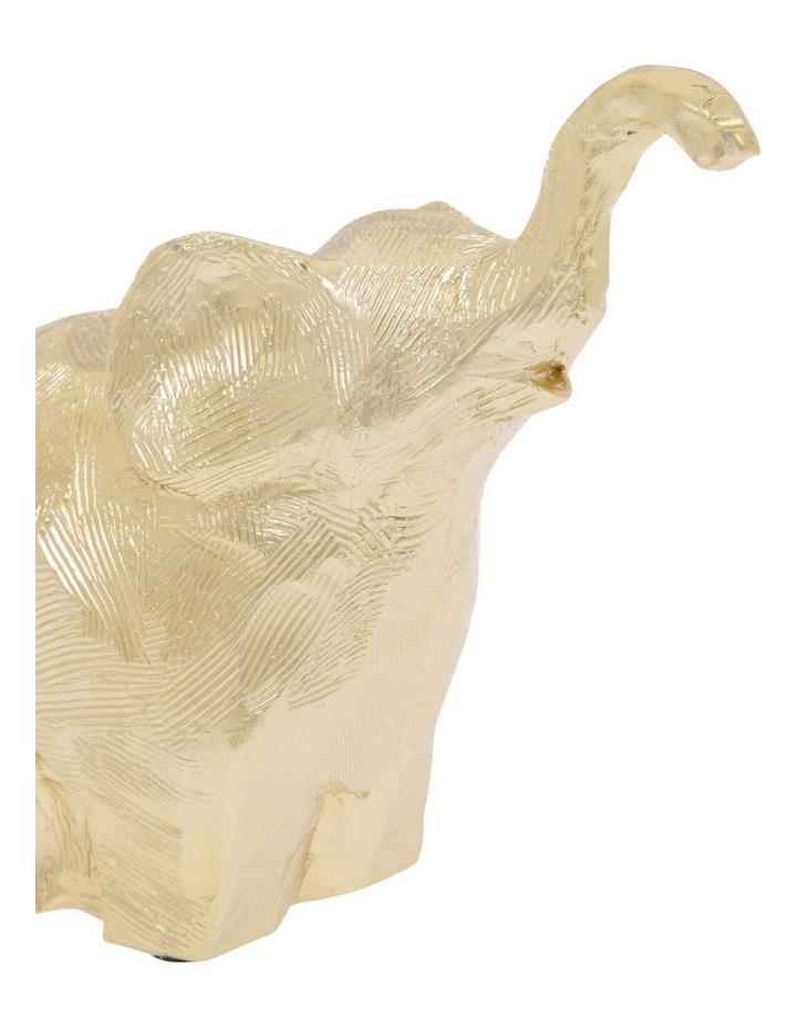 Gold Elephant Figurine image 3