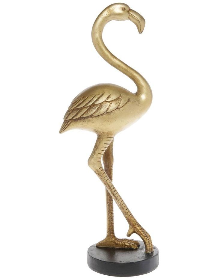 Flamingo Sculpture - Gold 38.5cm image 1