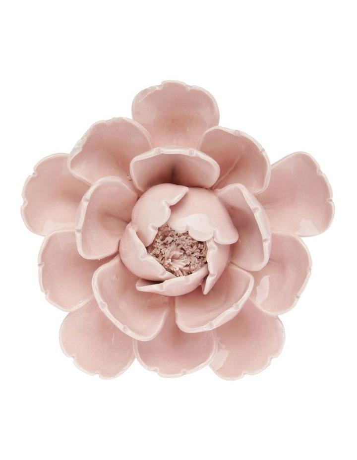 Ceramic Flower Sculpture - Rose 15cm image 1