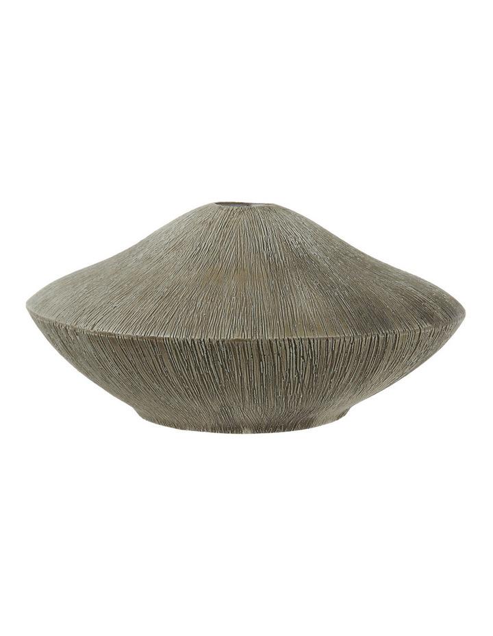 Otoway Ribbed Ceramic Squat Vase image 1