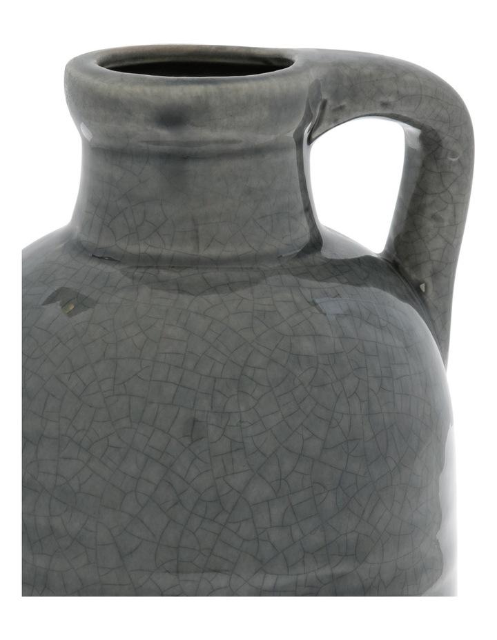 Ceramic Crackle Glaze Vase with Handle Grey 23.5cm image 2