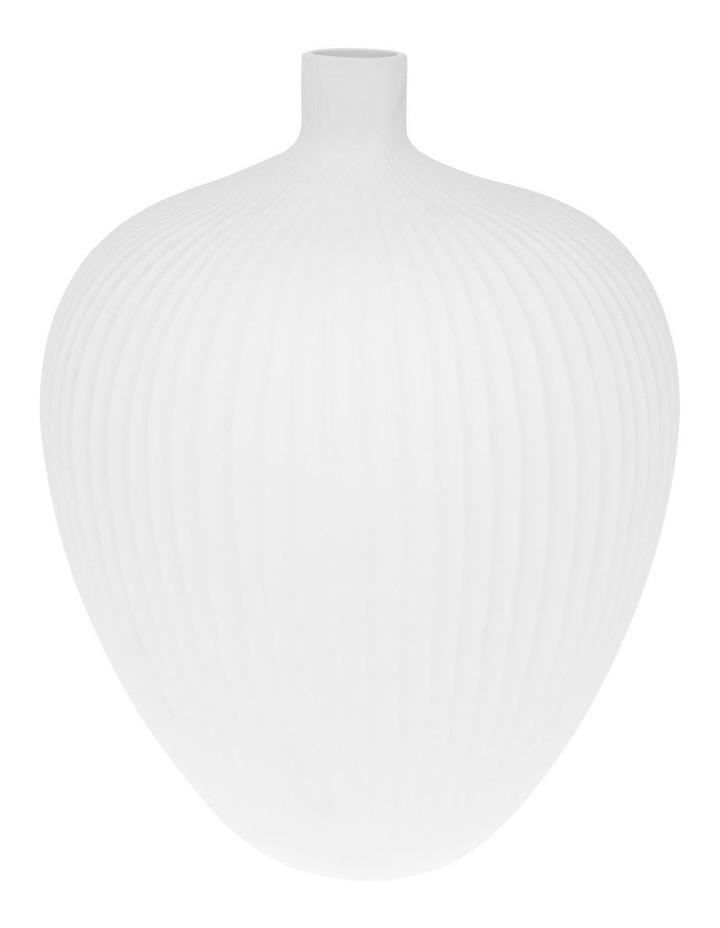 Matte Ribbed Bud Vase White 31cm image 1