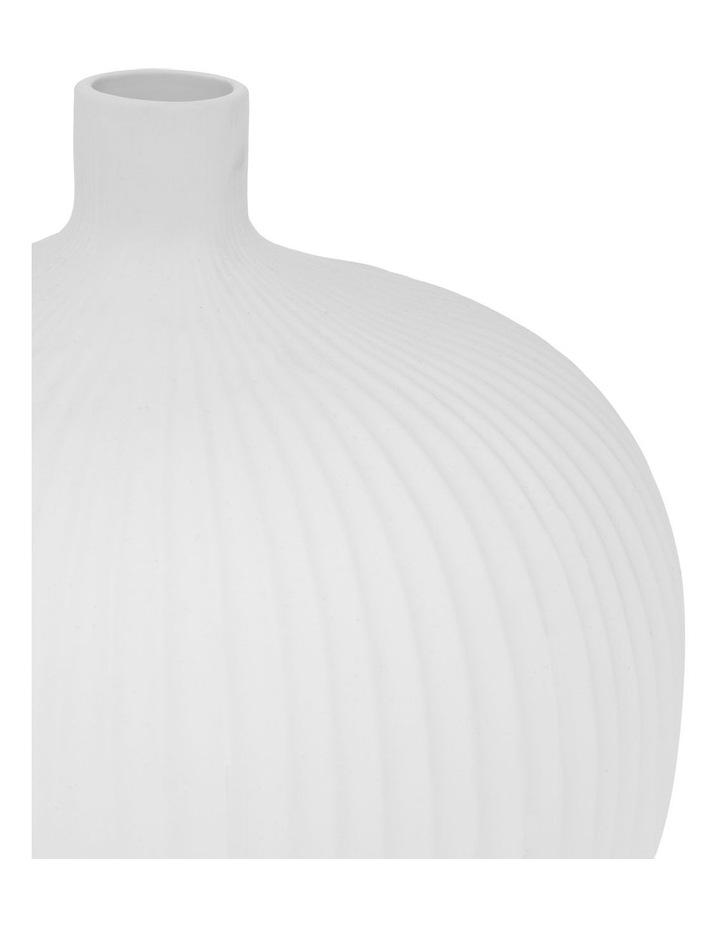 Matte Ribbed Bud Vase White 31cm image 2