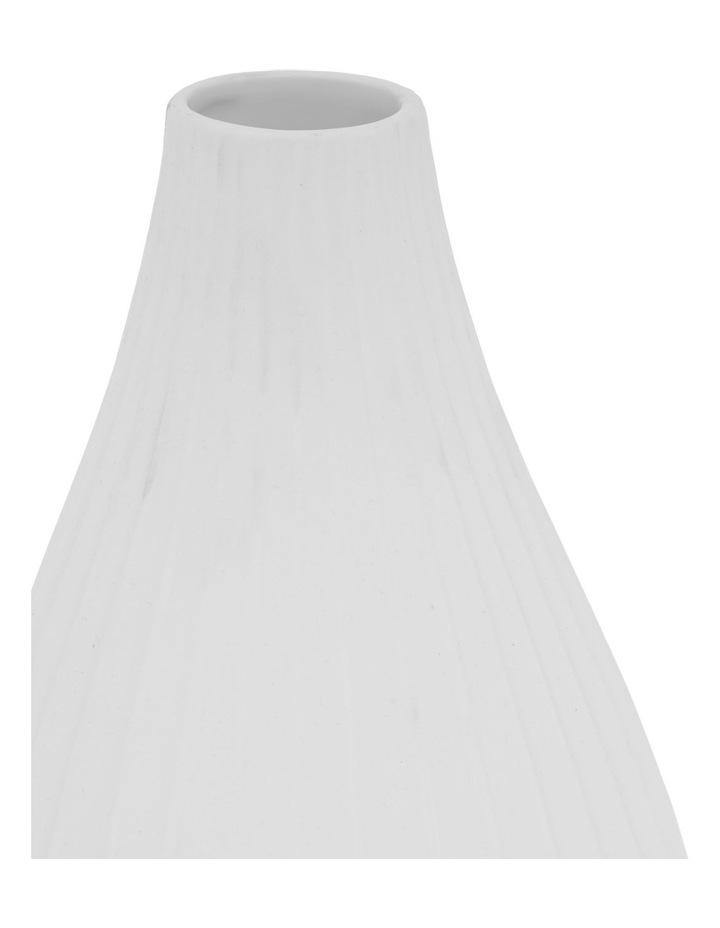 Matte Ribbed Vase White 30cm image 2