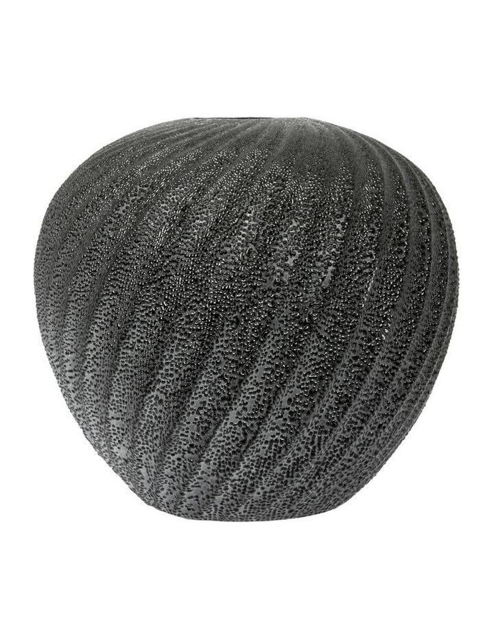 Metallic Black Swirl Vase Short - 20cm image 1