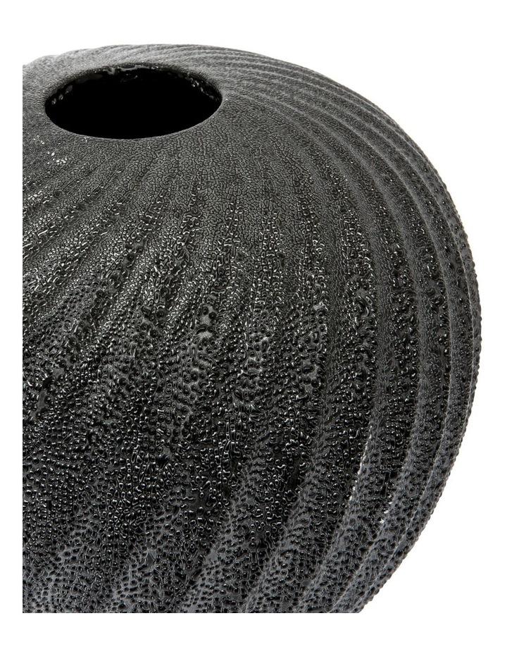 Metallic Black Swirl Vase Short - 20cm image 2