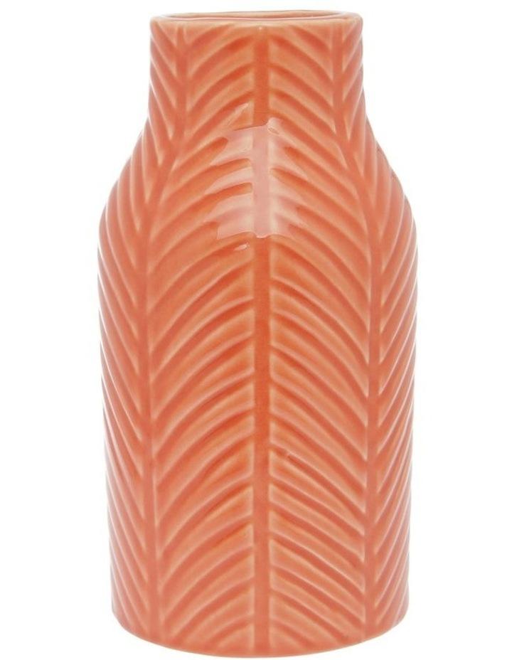 Ceramic Glaze Stripe Vase Coral 20.5cm image 1