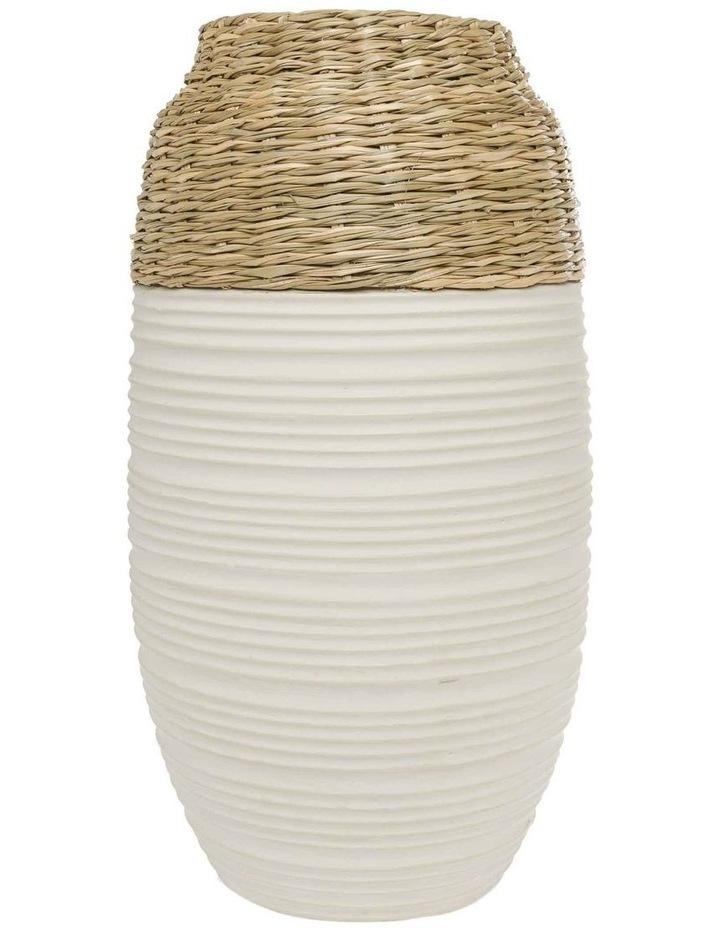 White Bronte Vase 40cm image 1