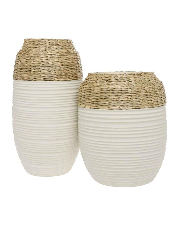 White Bronte Vase 40cm image 3