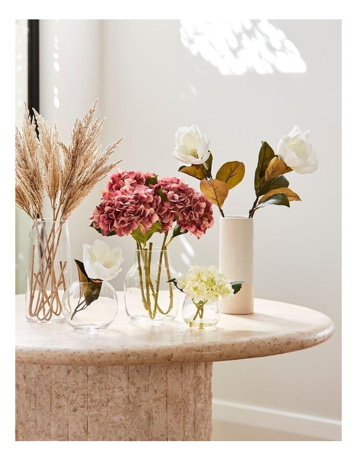 Glazed Ceramic Cylinder Vase - White image 2