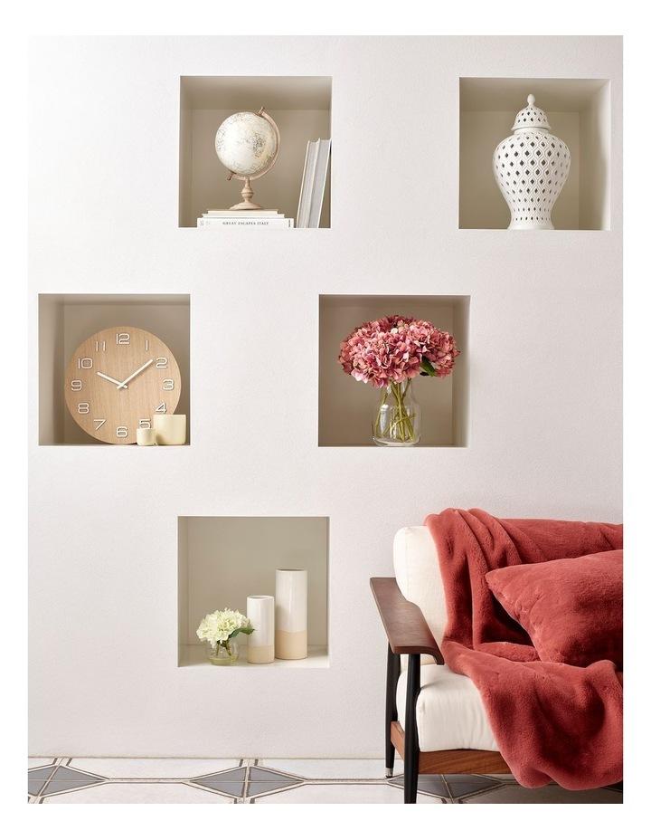 Glazed Ceramic Cylinder Vase - White image 4