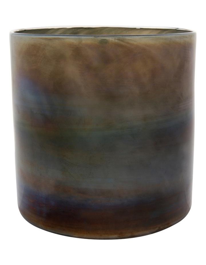 Glass Metallic Grey Vase 20cm image 1