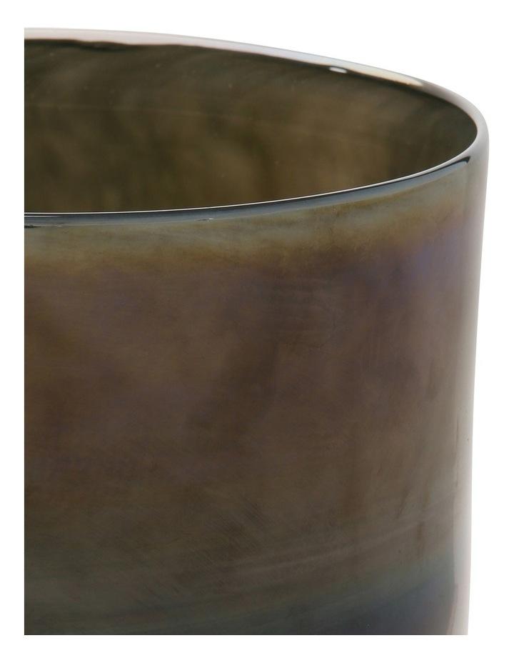 Glass Metallic Grey Vase 20cm image 2