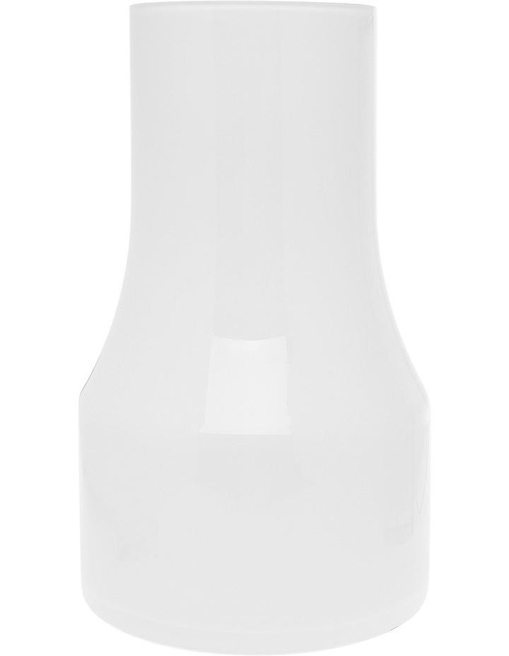 Hand Blown Crystal Glass Vase White 30cm image 1