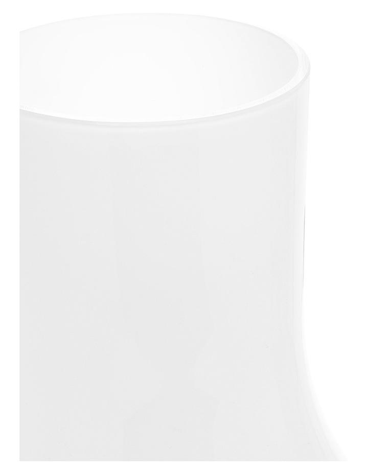 Hand Blown Crystal Glass Vase White 30cm image 2