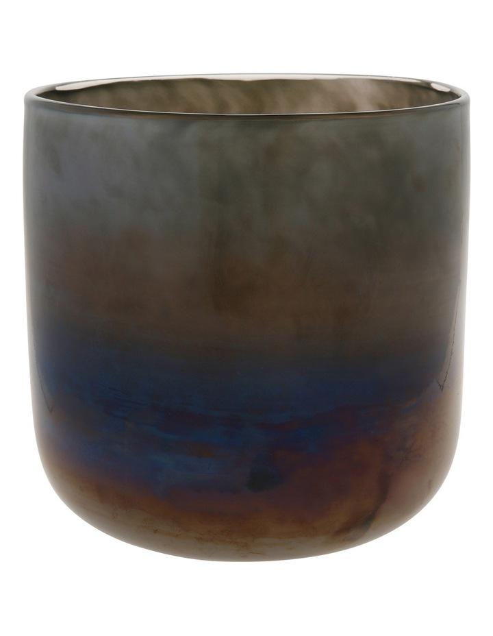 Glass Vase Metallic Grey 16cm image 1