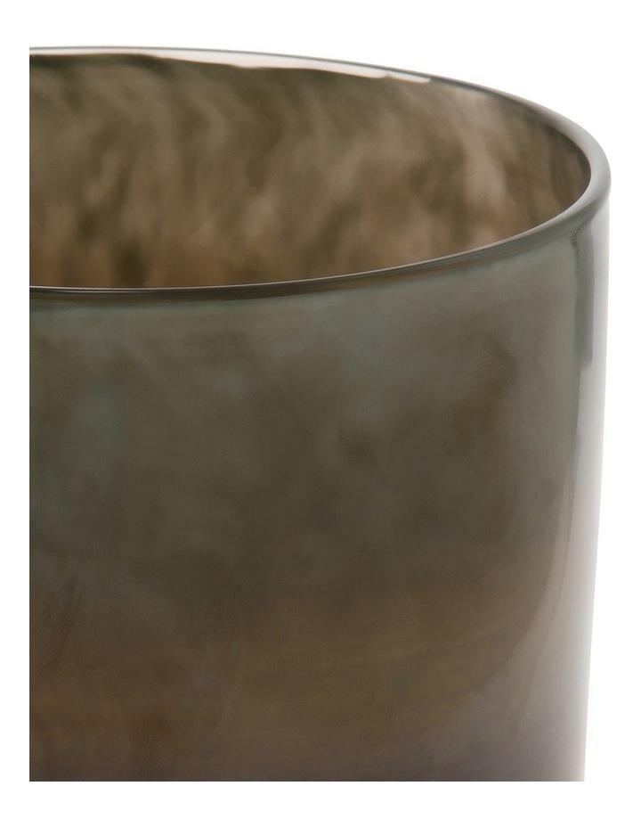 Glass Vase Metallic Grey 16cm image 2